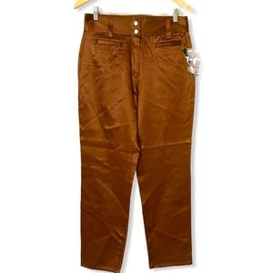 Vintage Express Sexy Satin Brown High Rise Jeans